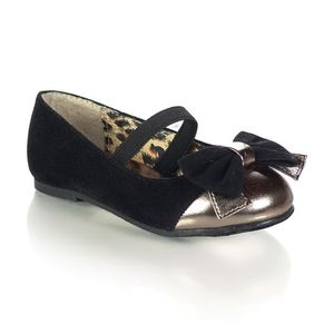 NWT Black & Gold Flats, Size Toddler 5